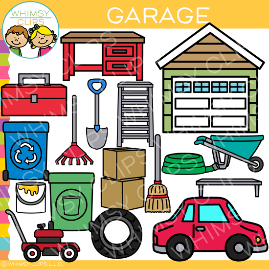 Pieces of a Garage Clip Art