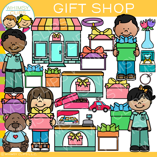 Kids Gift Shop Clip Art