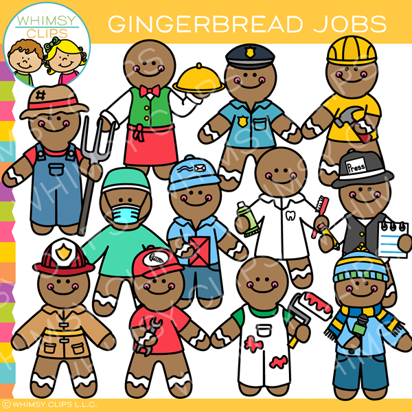 Gingerbread Jobs Clip Art