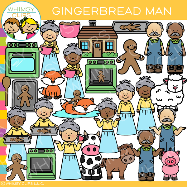 Gingerbread Man Story Clip Art