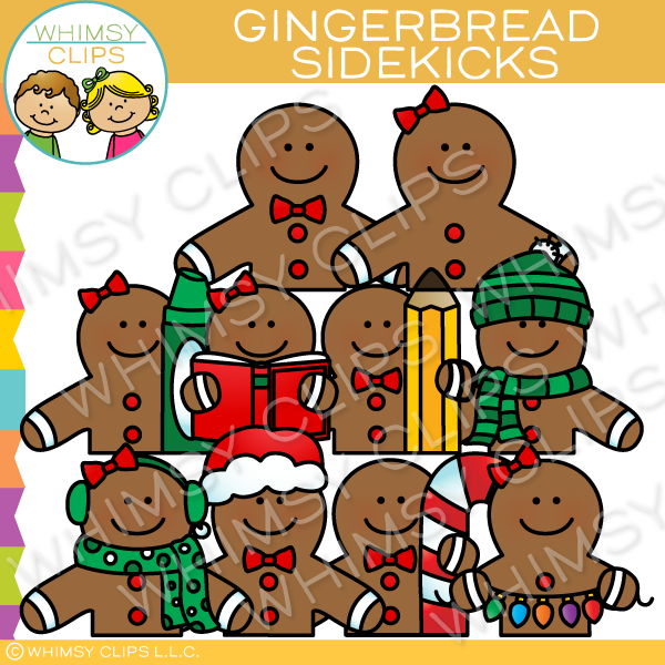 Gingerbread Sidekicks Clip Art