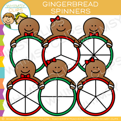 Gingerbread Spinners Clip Art