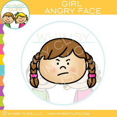 Girl Angry Face Clip Art