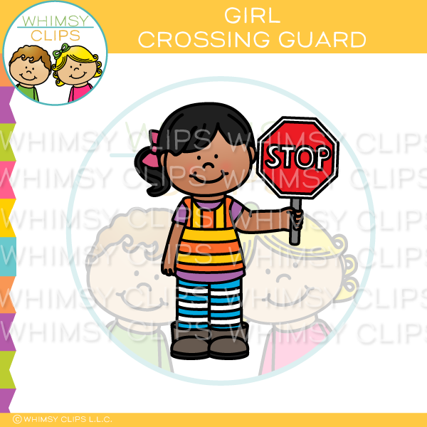 Girl Crossing Guard Clip Art