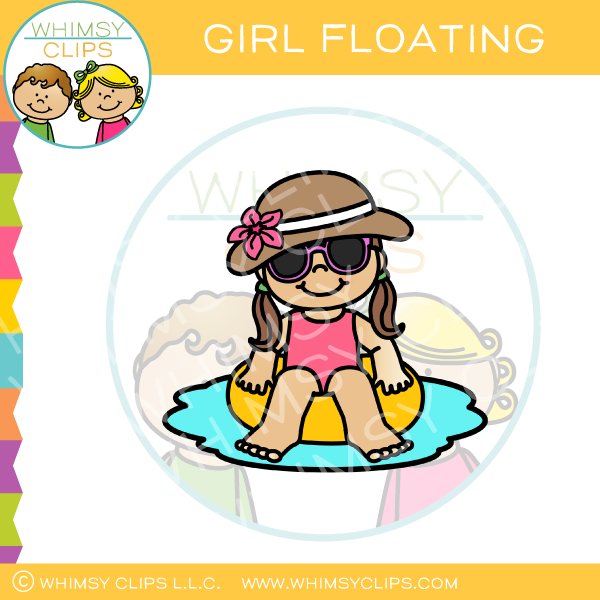 Girl Floating Clip Art