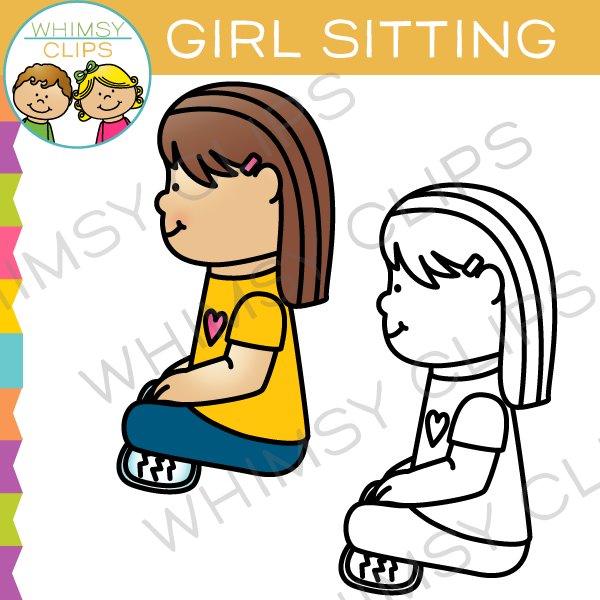 girl sitting clip art images illustrations whimsy clips rh whimsyclips com sitting clipart images sitting clipart