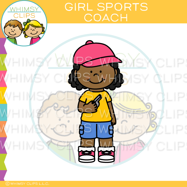 Girl Sports Coach Clip Art
