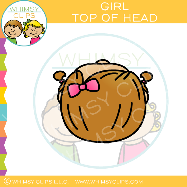 Girl Top of Head Clip Art