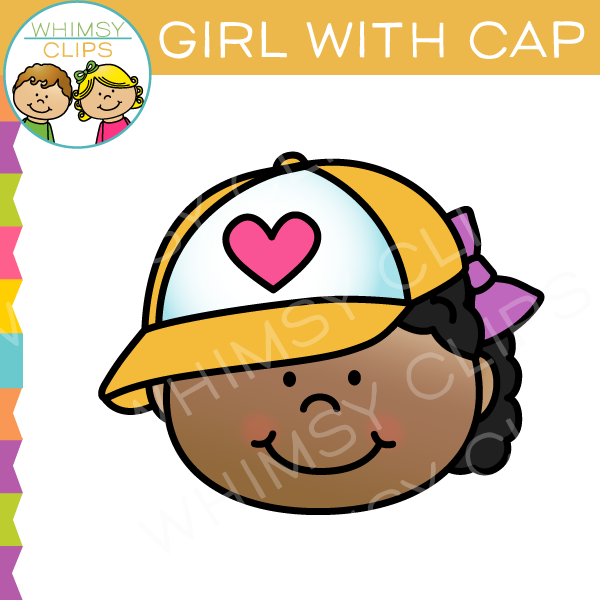 Girl Wearing Cap Clip Art