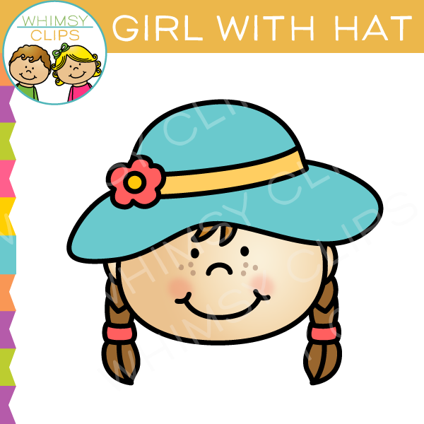 Girl With Hat Clip Art