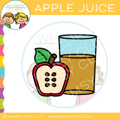 Glass of Apple Juice Clip Art