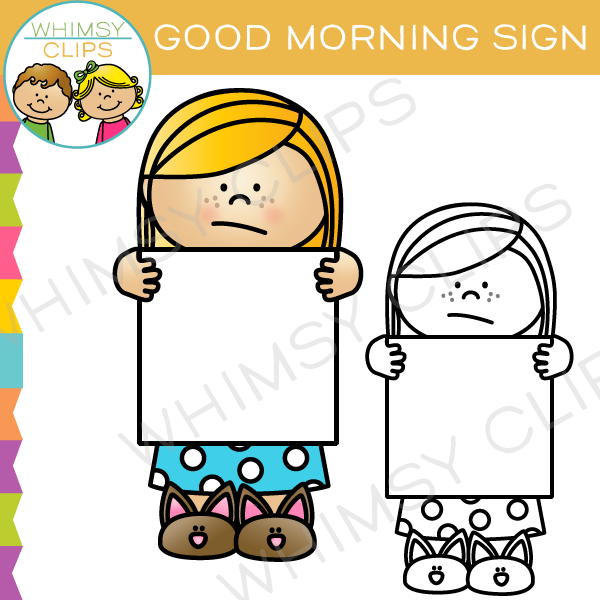 good morning sign clip art images illustrations whimsy clips rh whimsyclips com