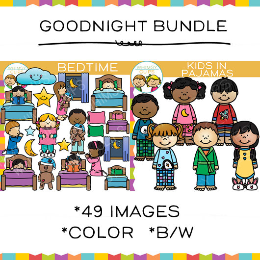 Goodnight Clip Art Bundle