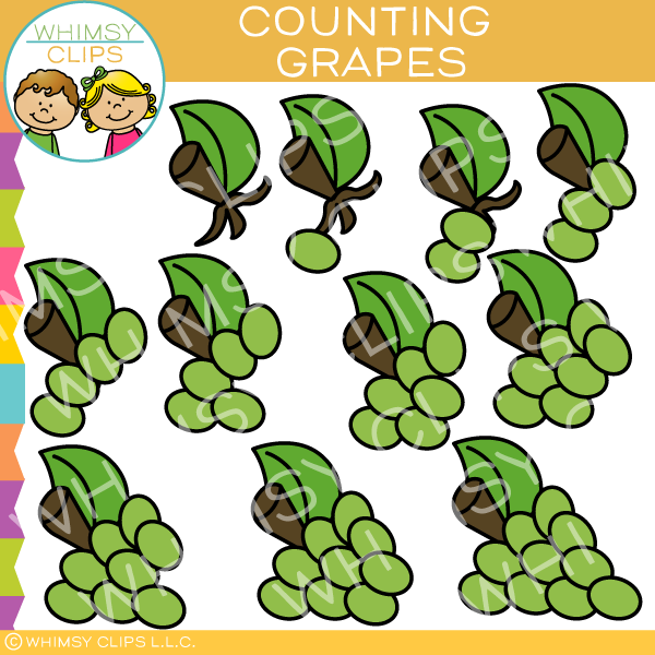 Grapes Counting Clip Art