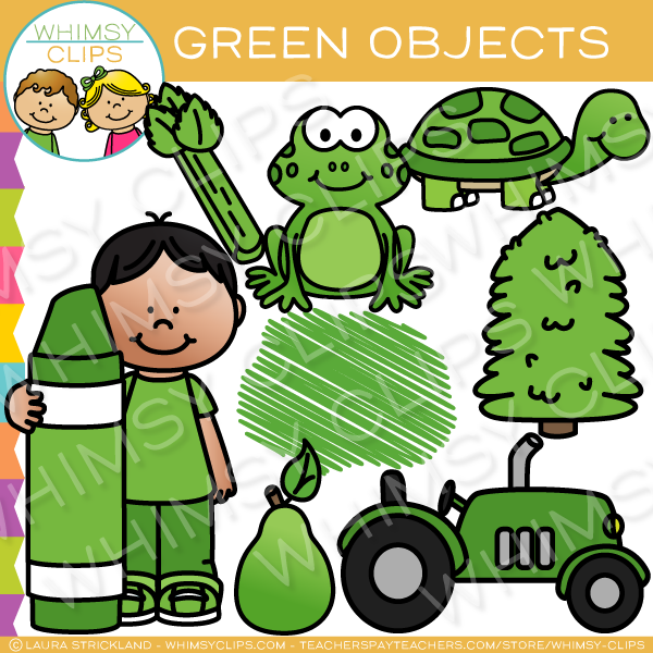 Green Color Objects Clip Art