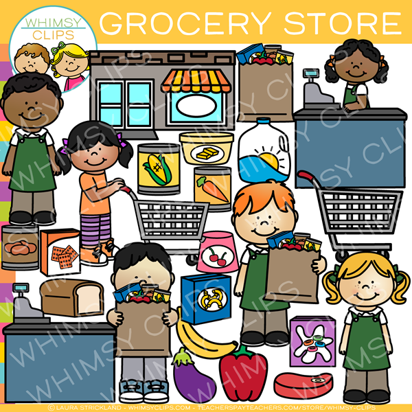 kids grocery store clip art images illustrations whimsy clips rh whimsyclips com grocery store aisle clipart grocery store items clipart