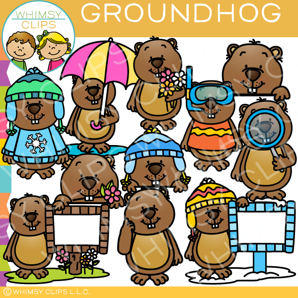 Cute Groundhog Clip Art