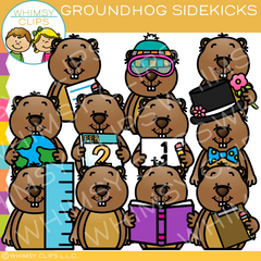 Groundhog Sidekicks Clip Art