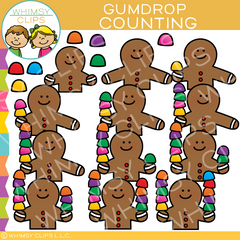 Counting Gumdrops Clip Art