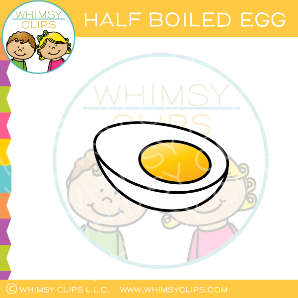 Half of a Hard Boiled Egg Clip Art