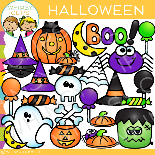 Halloween Pieces Clip Art