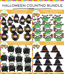 Halloween Counting Clip Art Bundle