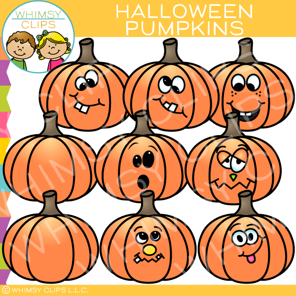 Funny Halloween Pumpkins Images Illustrations Whimsy Clips