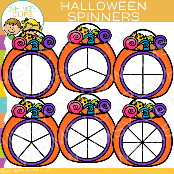 Halloween Spinners Clip Art