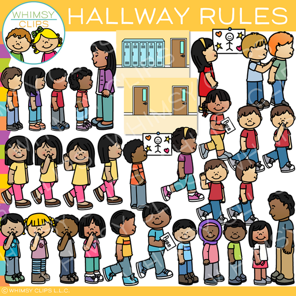 School Hallway Rules Clip Art
