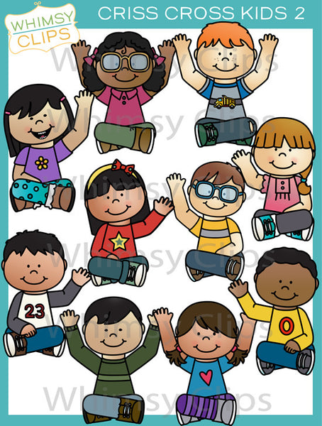 Criss Cross Kids Clip Art - Set Two