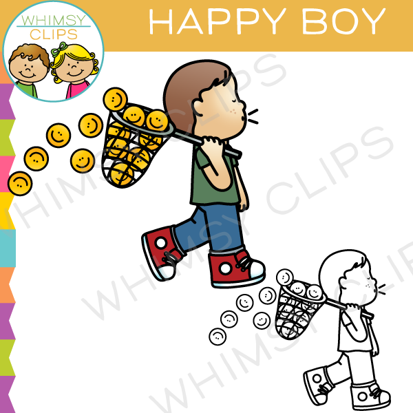 Happy Boy Clip Art