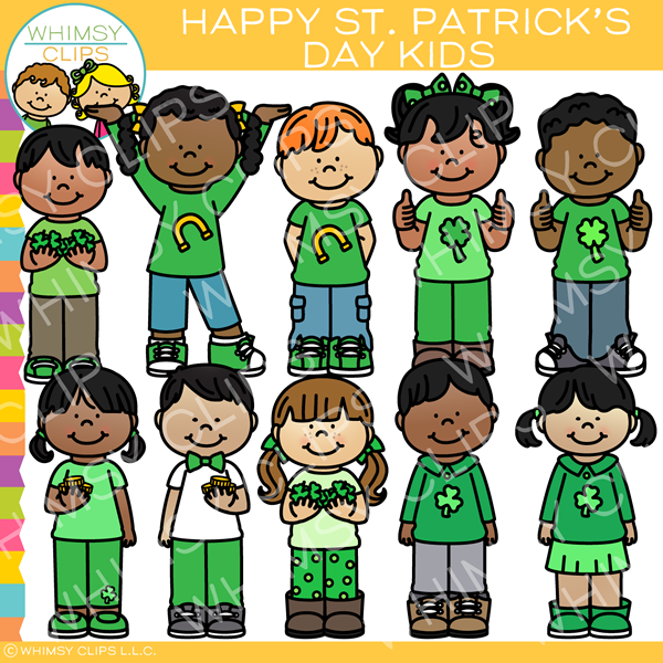 Happy St. Patrick Kids Clip Art