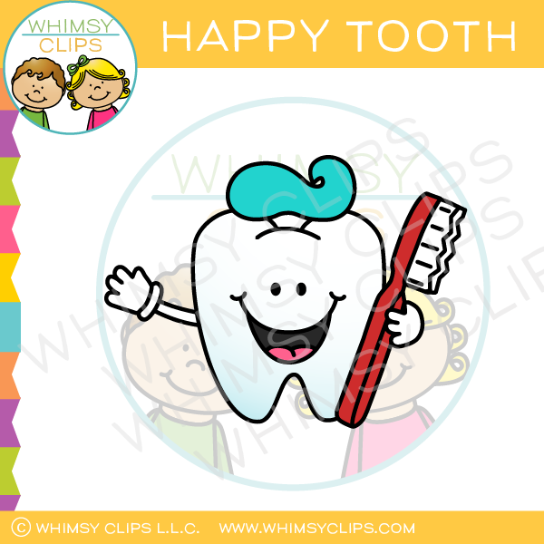 Happy Tooth Clip Art