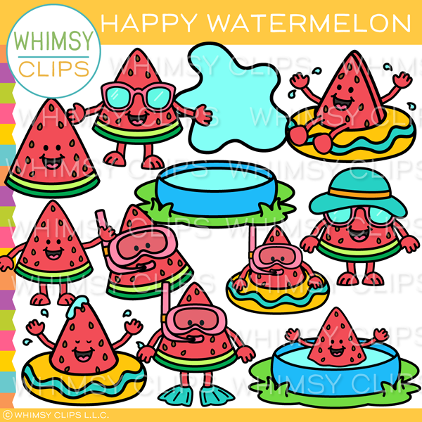 Happy Watermelon Clip Art