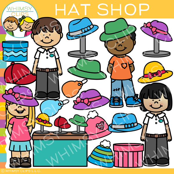 Kids Hat Shop Clip Art