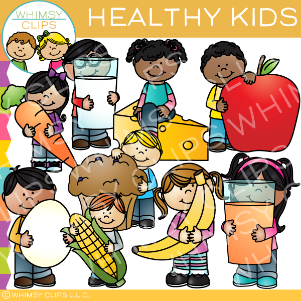 Healthy Kids Clip Art