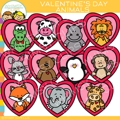 Valentine Animal Clip Art