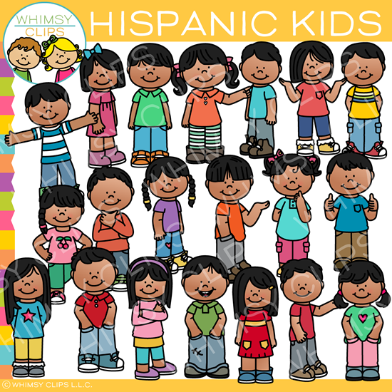 Everyday Hispanic Kids Clip Art