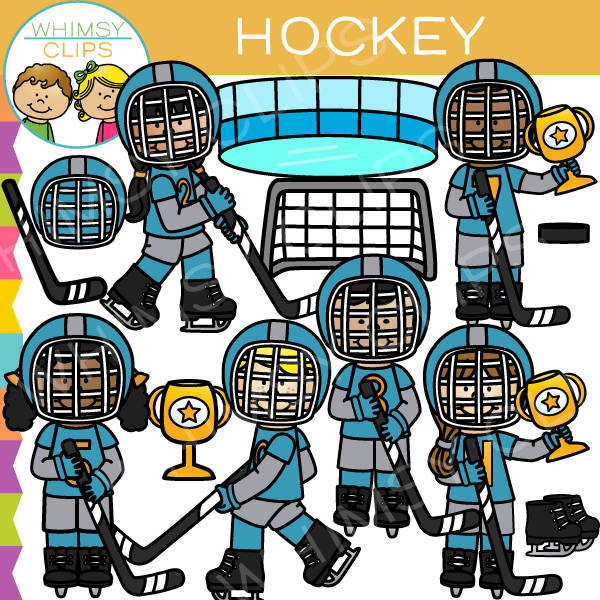 Kids Hockey Clip Art