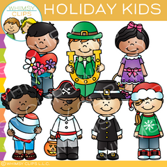 Holiday Kids Clip Art
