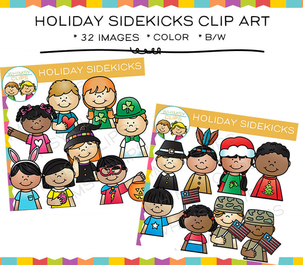 Holiday Sidekicks Clip Art