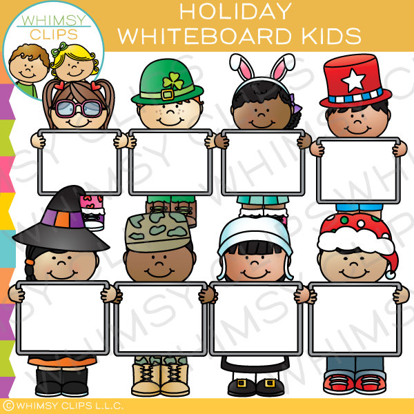 Holiday Whiteboard Kids Clip Art
