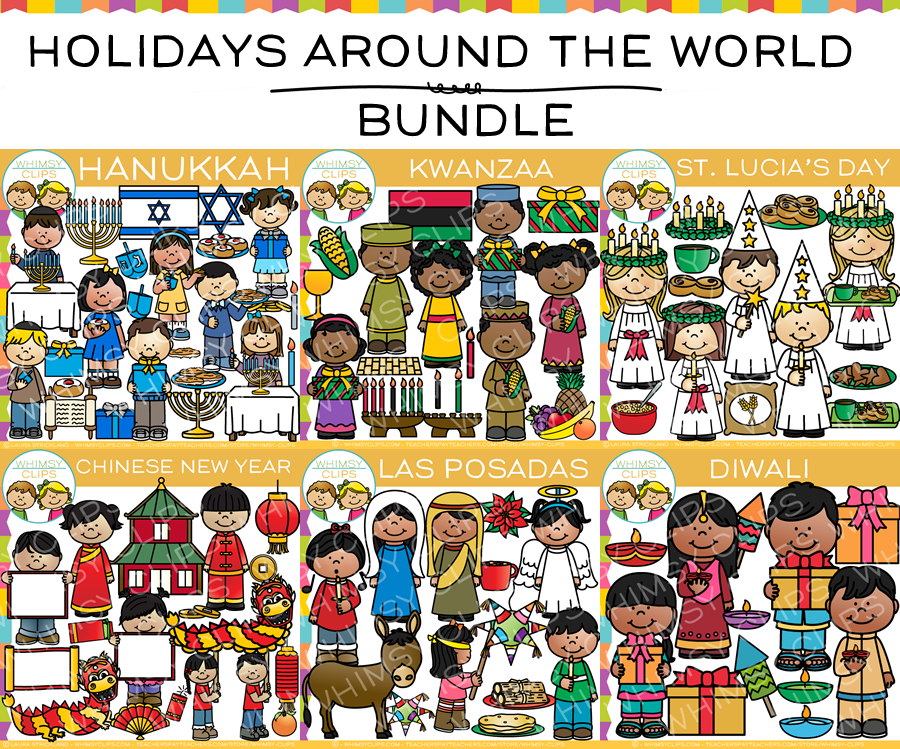 Holidays Around the World Clip Art Bundle