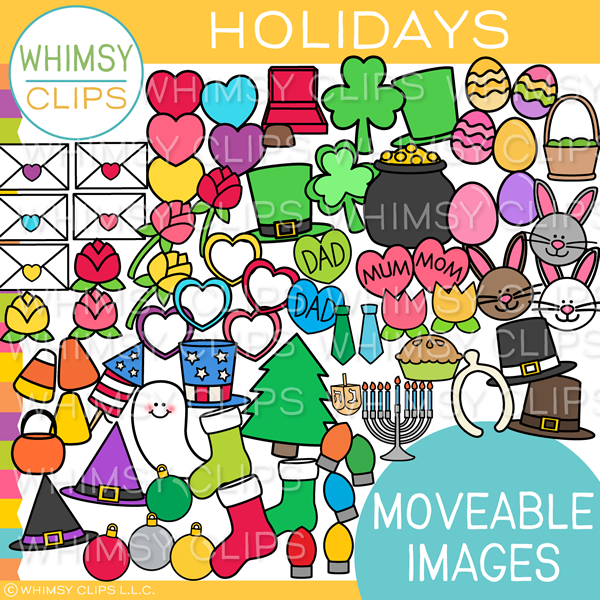 Moveable Holiday Clip Art for Paperless Resources