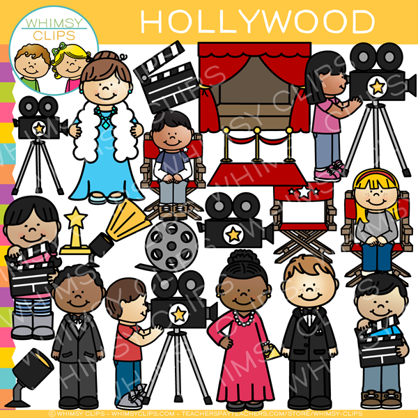 Kids Hollywood Clip Art