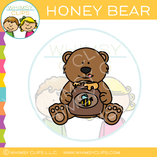 Honey Bear Clip Art