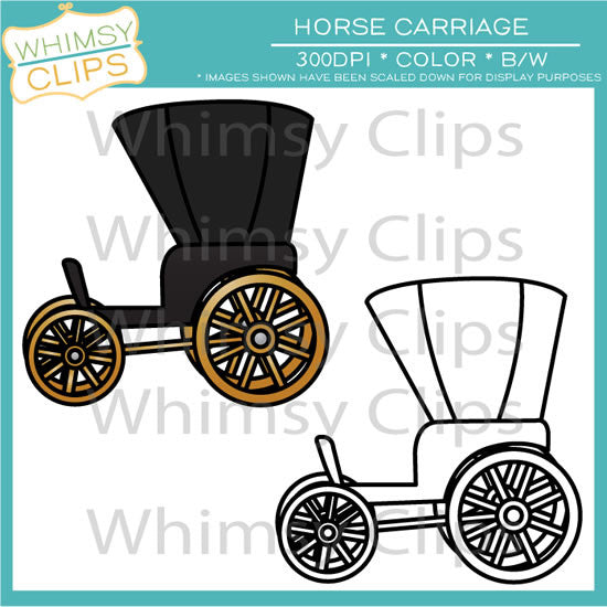 Horse Carriage Clip Art