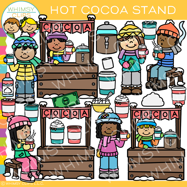 Hot Chocolate Stand Clip Art