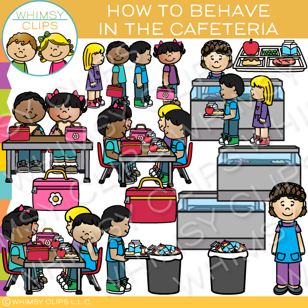 how to behave in the cafeteria clip art images illustrations rh whimsyclips com cafeteria worker clipart clipart cafeteria food