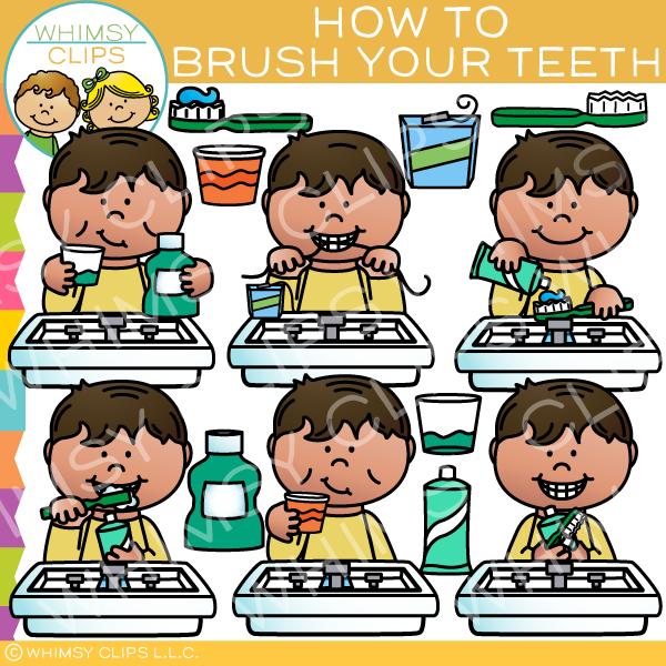 How To Brush Your Teeth Clip Art